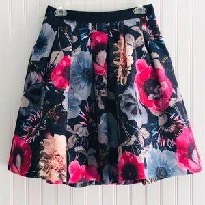 🔥🌸TED BAKER LONDON All Over Blue Floral Skirt